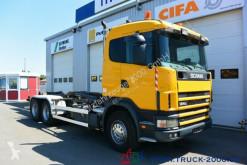 camion Scania 124G470 6x4 Multilift Knick- Schub Haken 25 to.