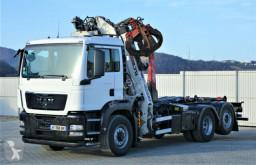 ciężarówka MAN TGS 26.400 Abrollkipper 5,70m+Kran * 6x4H