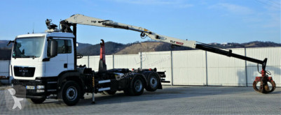camion MAN TGS 26.400 Abrollkipper 5,70m+Kran * 6x4H