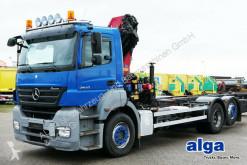 camion Mercedes 2543 L Axor, Kran HMF 1820 K3 mit Funk,Container