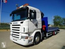 Scania heavy equipment transport truck