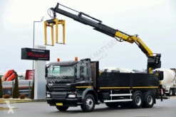 ciężarówka DAF CF 85.410/6X4/ BOX + CRANE FASSI F190/SADDLE /