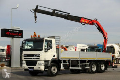 camión DAF CF 85.360/6X2/ BOX-7,5M+CRANE FASSI F170 + RADIO
