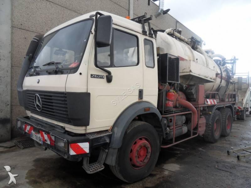 camion hydrocureur occasion mercedes sk 2629 gazoil annonce n 540655. Black Bedroom Furniture Sets. Home Design Ideas