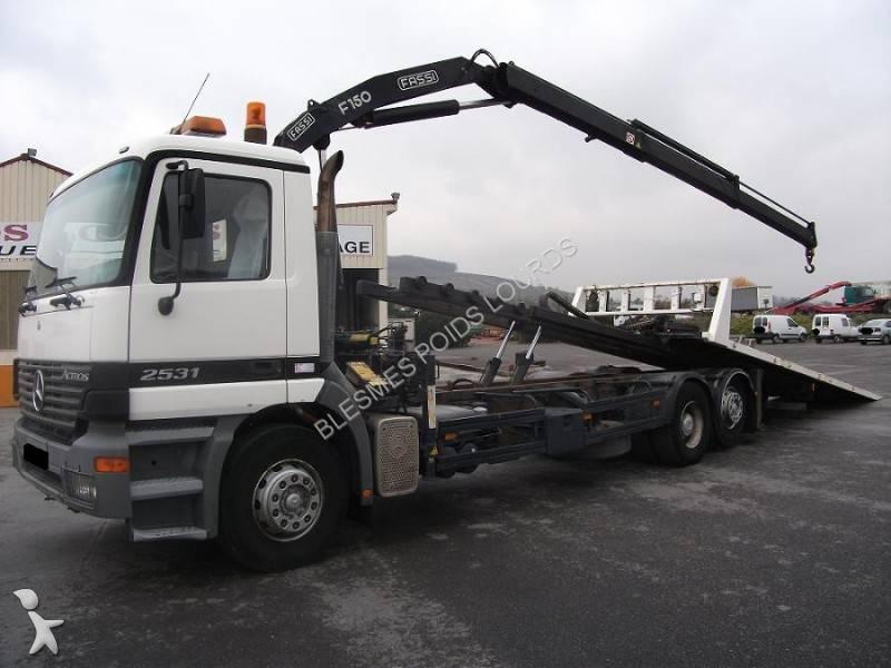 camion porte engins occasion mercedes actros 2531 gazoil annonce n 600868. Black Bedroom Furniture Sets. Home Design Ideas