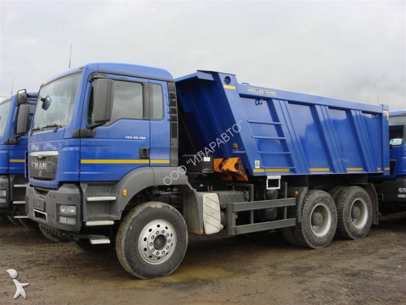 camion man benne meiller tgs 40 390 6x4 gazoil euro 3 neuf