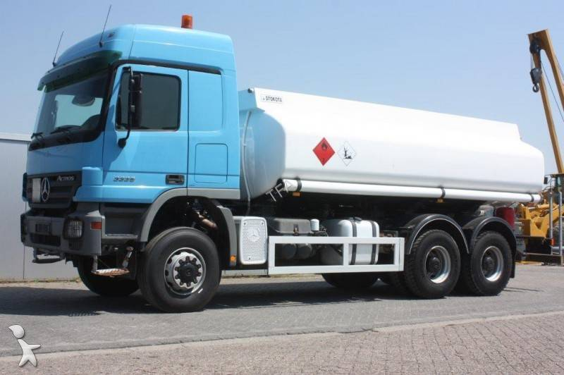 Used mercedes actros oil fuel tanker truck 3336 6x6 diesel for Used mercedes benz truck