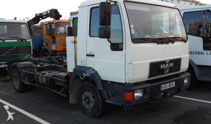 Tweedehands kraan met kipper man df 4x2 diesel euro for Vrachtwagen kipper met kraan