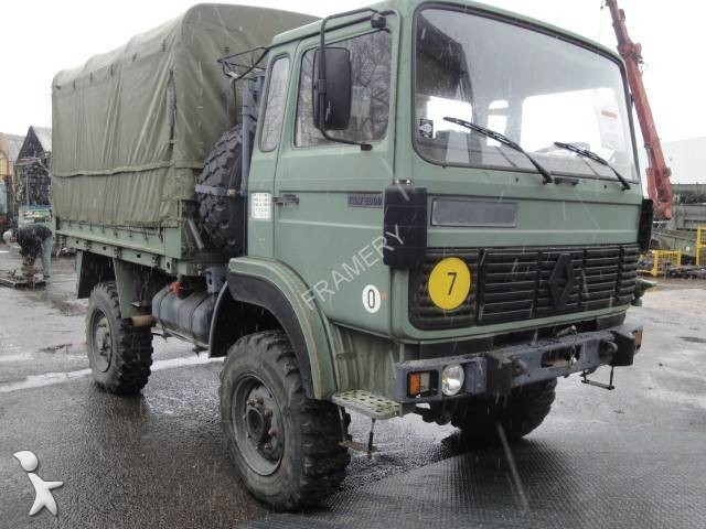 used renault trm dropside flatbed tarp truck 2000 4x4 diesel euro 1 n 976329. Black Bedroom Furniture Sets. Home Design Ideas