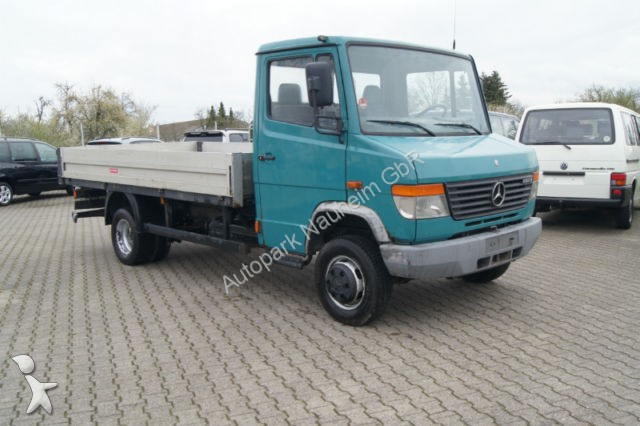used mercedes vario flatbed truck 612 d lange pritsche diesel euro 2 n 990398. Black Bedroom Furniture Sets. Home Design Ideas