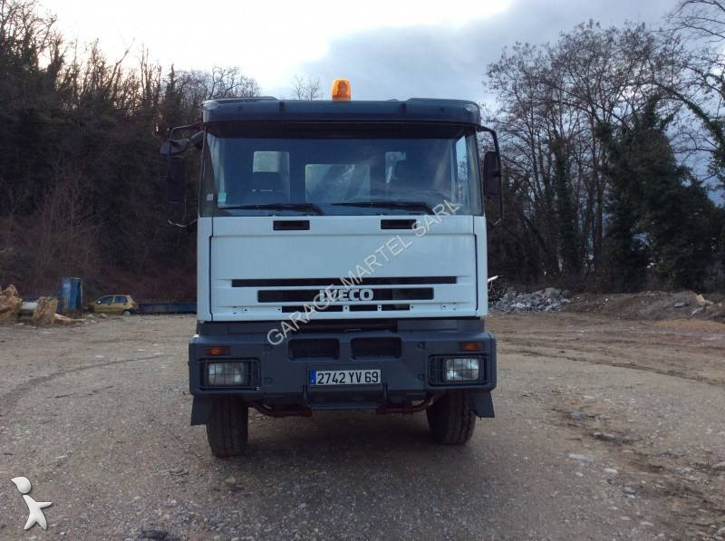Camion iveco polybenne dalby trakker 350 6x4 euro 2 grue for Garage martel grigny