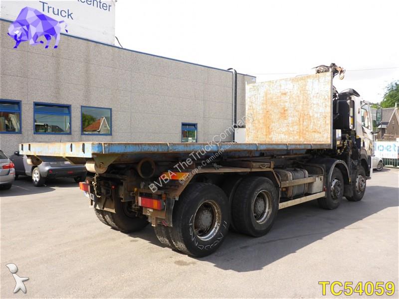 Camion daf porte containers 85 340 8x4 euro 2 grue - Camion porte container avec grue occasion ...