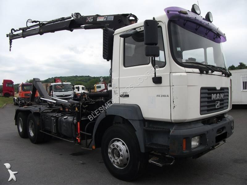 camion man polybenne ampliroll fe 310 a 6x4 gazoil euro 3. Black Bedroom Furniture Sets. Home Design Ideas