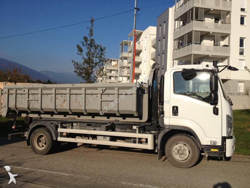 used isuzu nqr hook lift truck 4x2 diesel euro 5 n 1165019. Black Bedroom Furniture Sets. Home Design Ideas