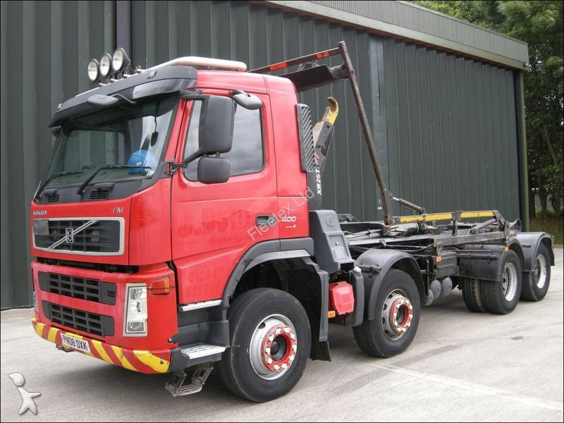 Used Volvo hook lift truck FM 400 HOOK LOADER 2008 PN08 ...