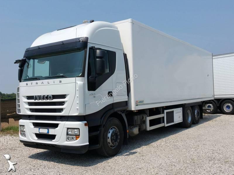 camion iveco frigo stralis 420 6x2 gasolio euro 5 sponda usato n 1316927. Black Bedroom Furniture Sets. Home Design Ideas
