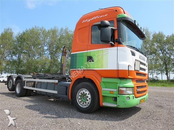Tweedehands kraan met kipper scania r 420 lb6x2mna diesel for Vrachtwagen kipper met kraan