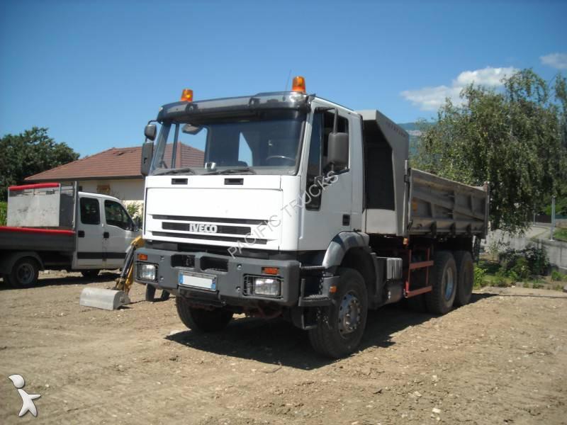 camion iveco bi benne eurotrakker 380e37 6x4 gazoil euro 2 occasion n 1361002. Black Bedroom Furniture Sets. Home Design Ideas