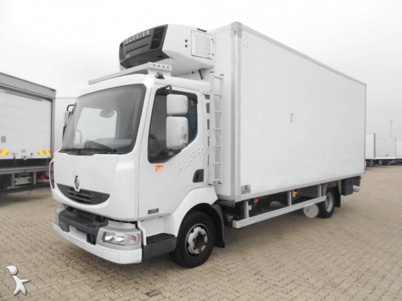 Camion renault frigo carrier mono temp rature midlum b 4x2 gazoil euro 4 hayon occasion - Temperature frigo 10 degres ...