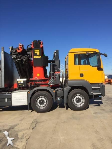 camion man plateau ridelles 41 430 8x4 gazoil euro 6 grue