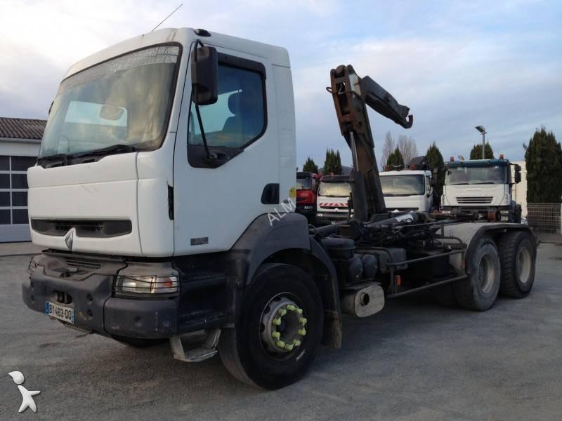 camion renault polybenne ampliroll kerax 370 dci 6x4
