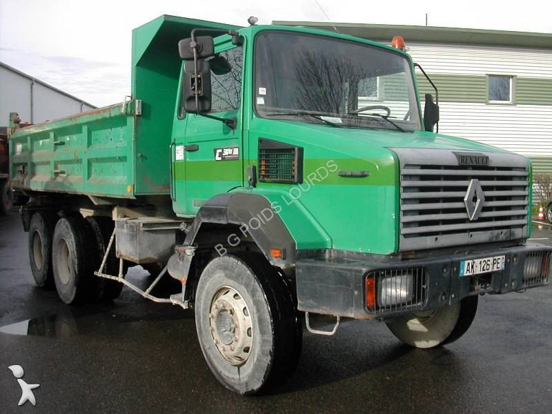 camion renault bi benne gamme c 300 6x4 euro 1 occasion n 1620466. Black Bedroom Furniture Sets. Home Design Ideas