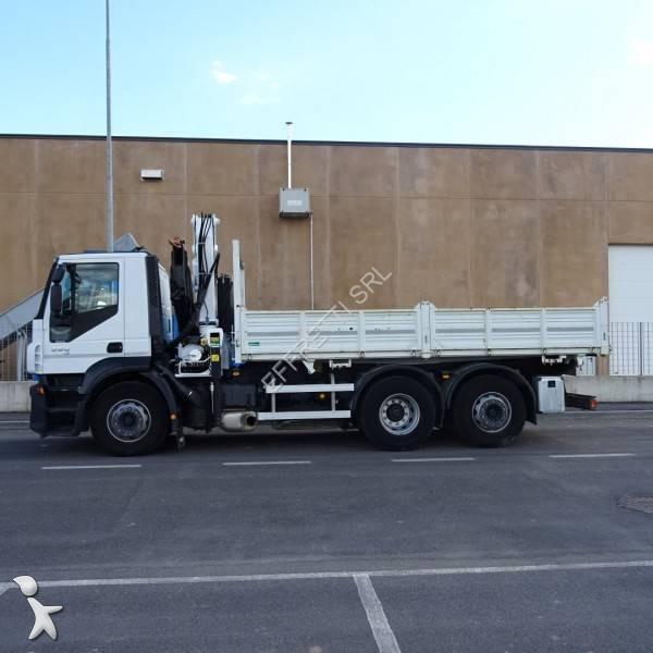 Camion iveco ribaltabile trilaterale stralis 360 6x2 for Effretti usato