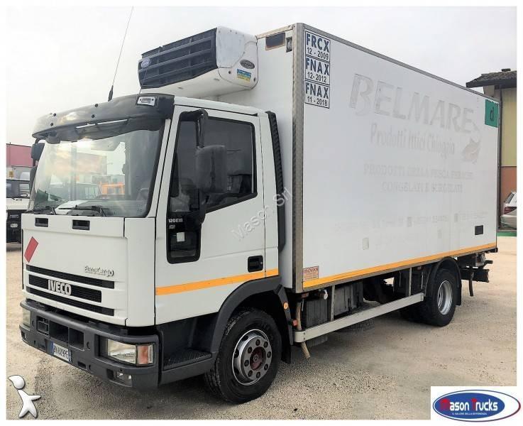 camion iveco frigo carrier monotemperatura eurocargo 120e18 4x2 gasolio euro 2 usato n 1690851. Black Bedroom Furniture Sets. Home Design Ideas
