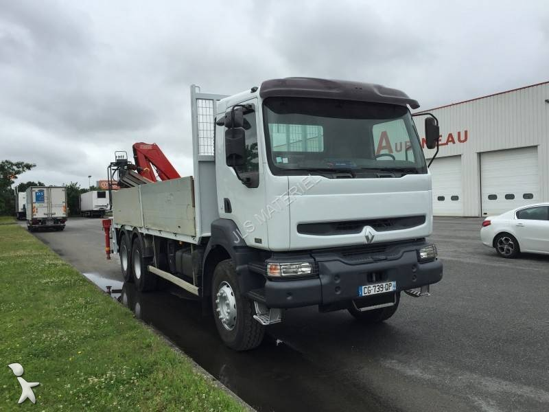 camion renault plateau standard kerax 380 6x4 gazoil euro 3 grue occasion n 1700269. Black Bedroom Furniture Sets. Home Design Ideas