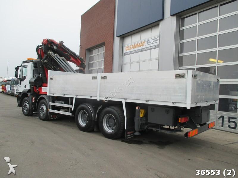 Tweedehands kraan met kipper iveco trakker 450 8x4 fassi for Vrachtwagen kipper met kraan