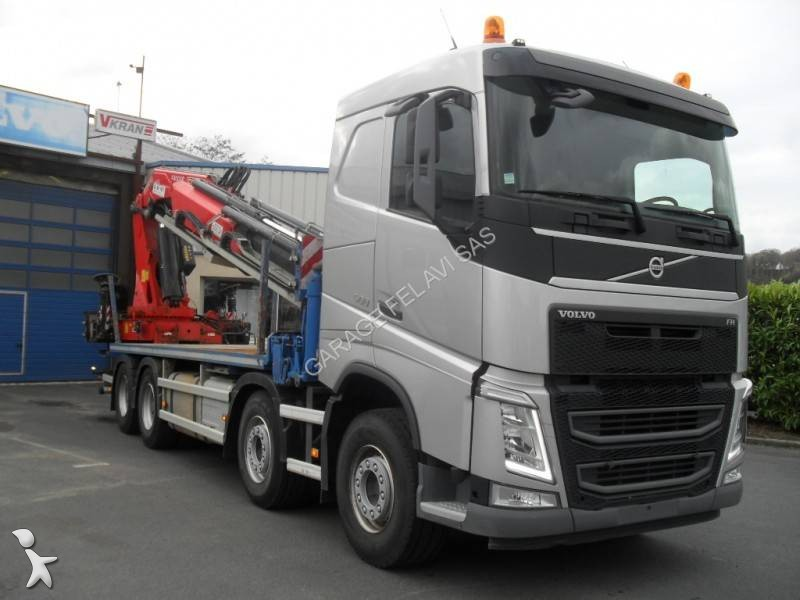camion volvo plateau standard fh 500 8x4 euro 6 grue occasion n 1810473. Black Bedroom Furniture Sets. Home Design Ideas