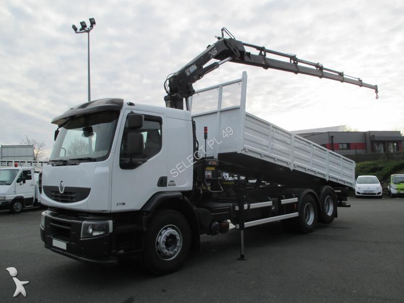 camion renault benne lander 370 dxi 6x2 gazoil euro 4 grue occasion n 1825392. Black Bedroom Furniture Sets. Home Design Ideas