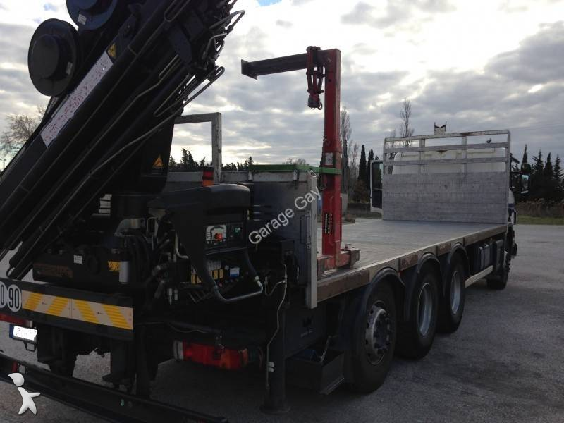 Camion scania plateau standard p 380 8x4 gazoil euro 3 grue occasion n 1841602 - Garage occasion vaucluse ...