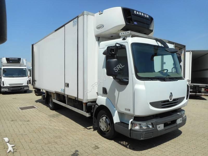 camion renault frigo carrier multitemperature midlum euro 5 sponda usato n 2034261. Black Bedroom Furniture Sets. Home Design Ideas