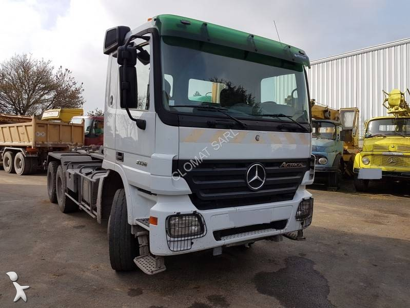 camion mercedes polybenne marrel actros 3336 6x4 euro 3 occasion n 2044253. Black Bedroom Furniture Sets. Home Design Ideas