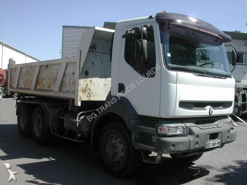 camion renault bi benne kerax 385 6x4 euro 2 occasion n. Black Bedroom Furniture Sets. Home Design Ideas