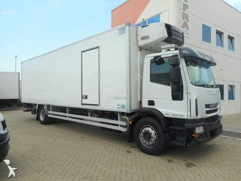 camion iveco frigo carrier monotemperatura eurocargo ml 190 el 28 p 4x2 euro 5 sponda usato n. Black Bedroom Furniture Sets. Home Design Ideas