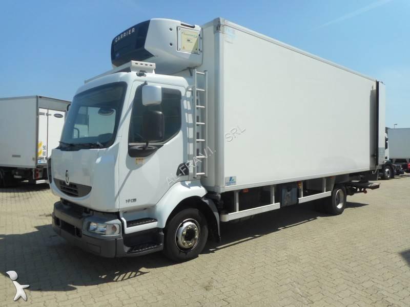 camion renault frigo carrier monotemperatura midlum dxi gasolio euro 5 sponda usato n. Black Bedroom Furniture Sets. Home Design Ideas