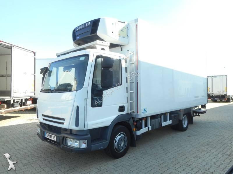 camion iveco frigo carrier multitemperature eurocargo ml 100 e 18 4x2 euro 5 sponda usato n. Black Bedroom Furniture Sets. Home Design Ideas