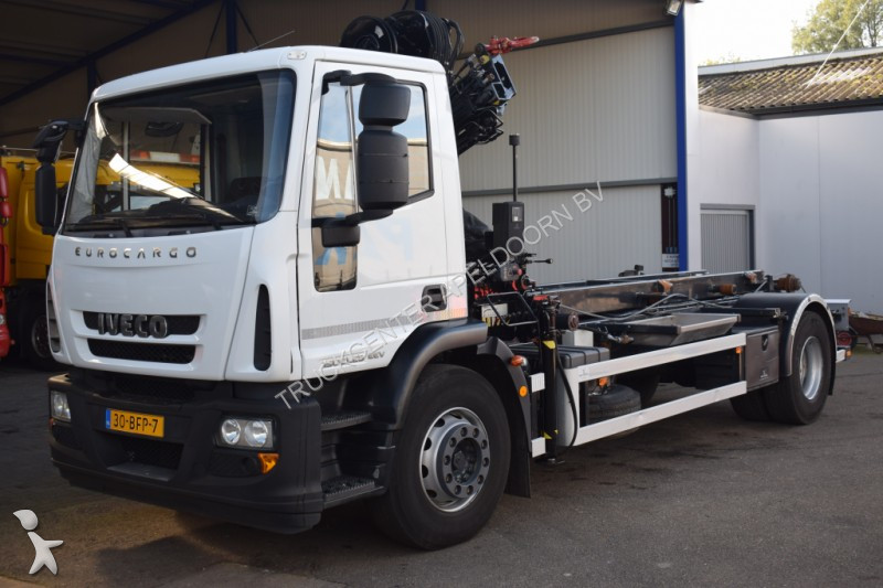Camion iveco porte containers eurocargo 4x2 gazoil euro 5 - Camion porte container avec grue occasion ...