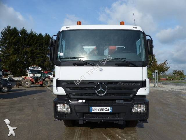 camion mercedes benne actros 1832 4x2 euro 3 grue occasion. Black Bedroom Furniture Sets. Home Design Ideas