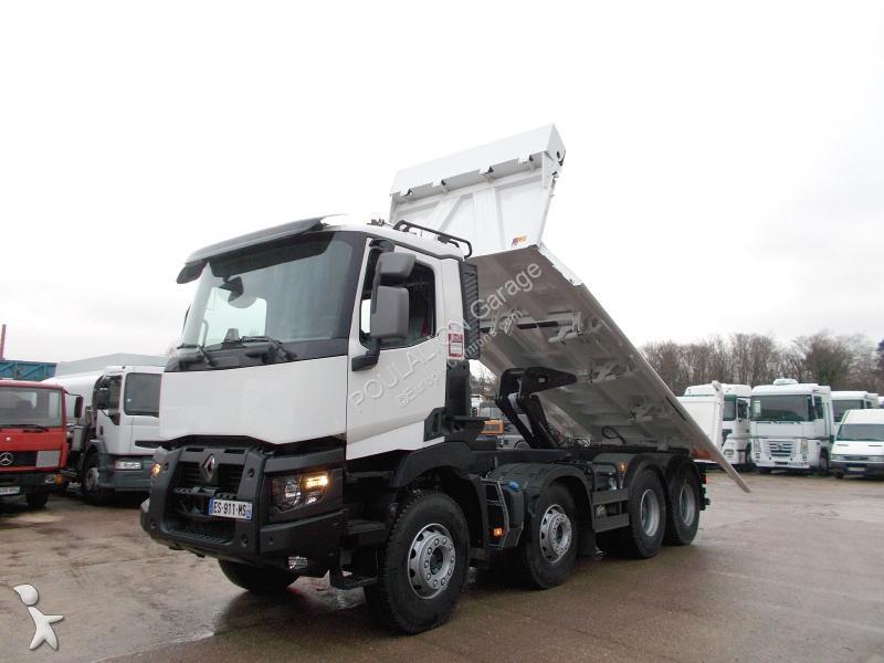 camion renault bi benne meiller gamme c 480 p8x4 k e6 8x4 gazoil euro 6 neuf n 2334635. Black Bedroom Furniture Sets. Home Design Ideas