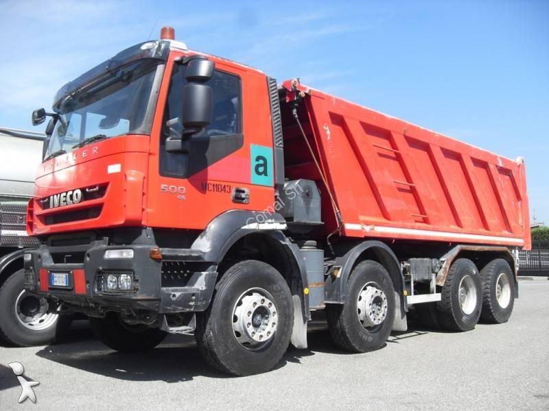camion iveco benne trakker 500 8x4 euro 5 occasion n 2342121. Black Bedroom Furniture Sets. Home Design Ideas
