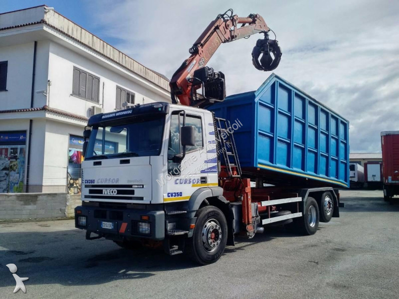 camion iveco benne cursor 260e35 trasporto rottami occasion n 2355603. Black Bedroom Furniture Sets. Home Design Ideas