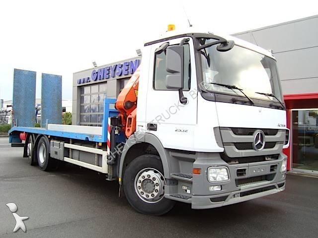 Camion porte engins occasion mercedes actros 2532 l grue - Camion porte container avec grue occasion ...