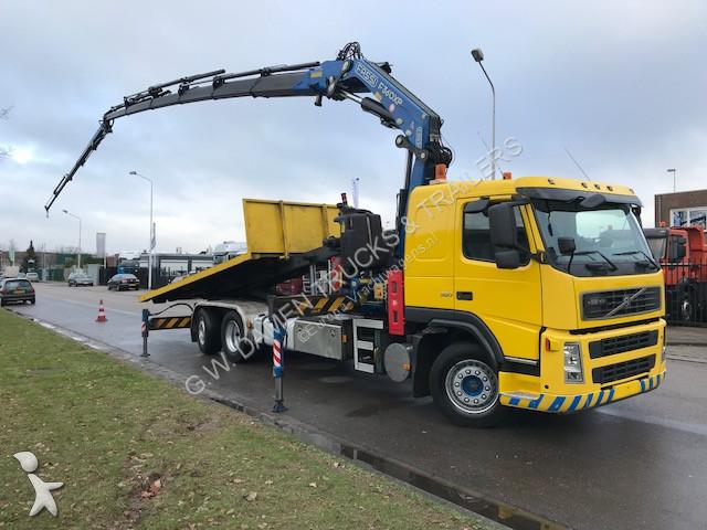 Camion volvo porte containers fm 6x2 gazoil euro 3 grue - Camion porte container avec grue occasion ...