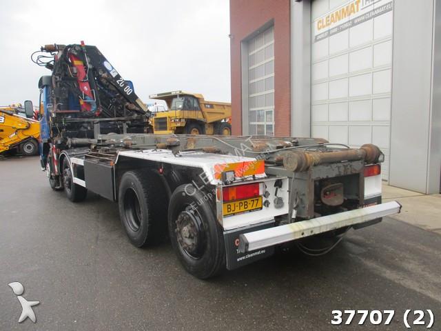 Camion volvo porte containers fm12 8x2 gazoil euro 3 grue - Camion porte container avec grue occasion ...
