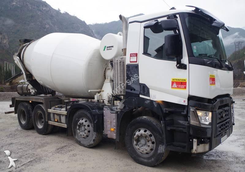 Camion renault b ton toupie malaxeur gamme k 430 8x4 - Camion toupie beton ...