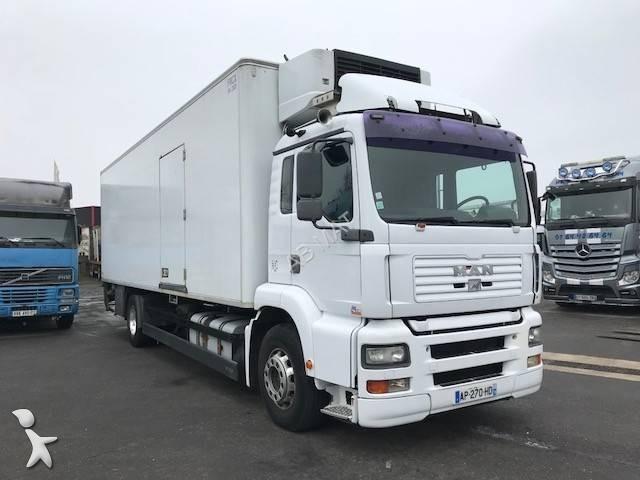camion man frigo carrier tg 310 a 4x2 gasolio euro 3 sponda usato n 2499931. Black Bedroom Furniture Sets. Home Design Ideas