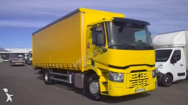 camion renault rideaux coulissants plsc gamme t 430 p4x2 e6 4x2 gazoil euro 6 hayon occasion. Black Bedroom Furniture Sets. Home Design Ideas